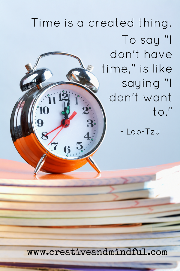 Time Management Tips from www.creativeandmindful.com