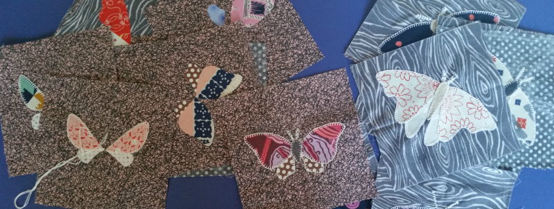 Moth quilt blocks